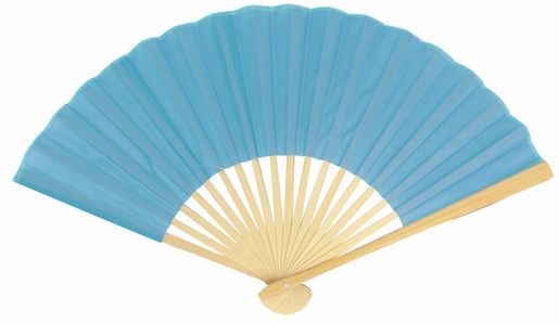 9 turquoise silk hand fans for weddings 10 pack on sale now