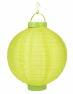 Apple Green LED Round Nylon Battery Lantern