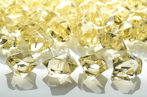 Beige Gemstones Acrylic Crystal Wedding Table Scatter Confetti Vase Filler (3/4 lb Bag)