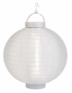 Beige LED Round Nylon Battery Lantern