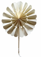"8"" Beige / Ivory Pinwheel Paper Hand Fans (10 PACK)"