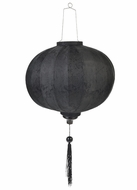Black Round Silk Lanterns