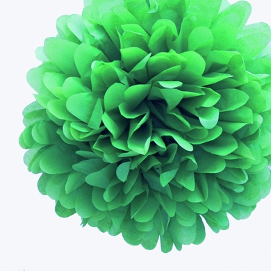 """12"""" Grass Greenery Tissue Paper Pom Poms Flowers Balls, Decorations (4 PACK) (Discontinued)"""