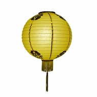 "BLOWOUT 16"" Yellow Traditional Paper Lantern w/Tassels"