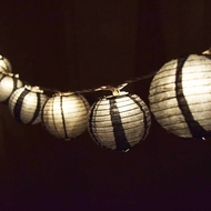 "BLOWOUT 3.5"" Black Round Shaped Party String Lights"
