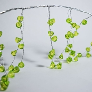 """BLOWOUT 42"""" Lime Green Bendable Wire Crystal Garland"""