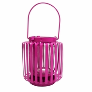 Hanging Cylinder Candle Lantern - Fuchsia (Discontinued)