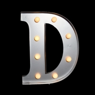 BLOWOUT Marquee Light Letter 'D' LED Metal Sign (10 Inch, Battery Operated)