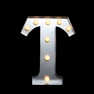 BLOWOUT Marquee Light Letter 'T' LED Metal Sign (10 Inch, Battery Operated)