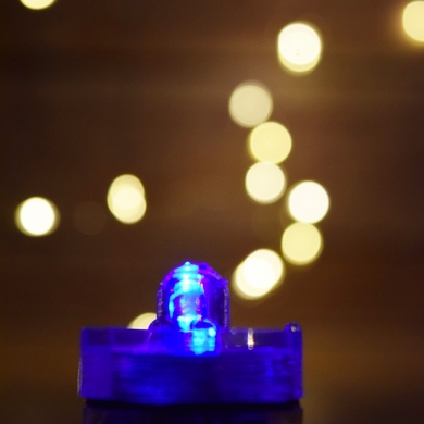 Blue LED Submersible Waterproof Flower Floral Tea Lights (12 PACK)