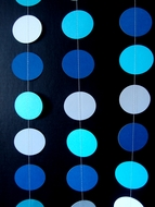 Blue Ombre Paper Circle Garland