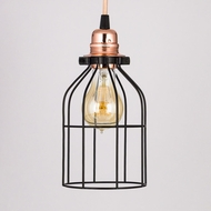 Bottle Shaped Vintage Edison Light Bulb Cage for Pendant Lights
