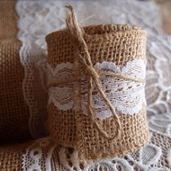 Burlap Fabric Ribbon Wrap Rolls