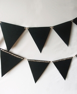 Chalkboard Sign Triangle Flag Pennant Banner Decoration (11FT)