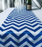 Chevron Table Runner - Dark Blue