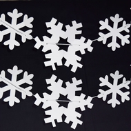 Christmas Holiday White Snowflake Garland Banner (10FT)
