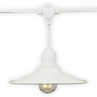 Classic Metal Patio Light Bulb Shade Cover for Outdoor Commercial String Lights, E26, White