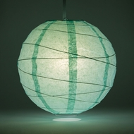 Cool Mint Green Crisscross Ribbing Paper Lanterns