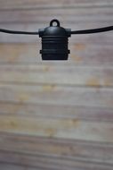 (Cord Only) 10 Socket Outdoor Commercial DIY String Light 21 FT Black Cord w/ E26 Medium Base, Weatherproof