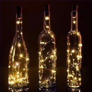Cork Wine Bottle Lights Solar and Battery Operated