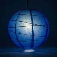 Dark Blue Crisscross Ribbing Paper Lanterns