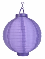 Dark Purple LED Round Nylon Battery Lantern