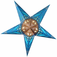 "24"" Dolphins Paper Star Lantern, Hanging Decoration"