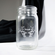 Fantado Wide Mouth Clear Mason Jar, 32oz