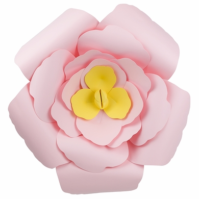 Giant 16 pre made light pink rose paper flower wedding backdrop giant 16 light pink rose paper flower backdrop wall decor 3d premade mightylinksfo