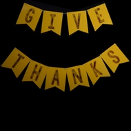 BLOWOUT Give Thanks Thanksgiving Holiday Flag Pennant Banner (10FT)
