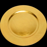 Gold Heavy Duty Charger Plate (13 Inch) - Rustic Brushed Finish