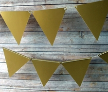 Gold Large Triangle Flag Pennant Banner (11FT)