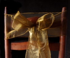 Bronze/Gold Organza Chair Sashes (9FT, 10 PACK)