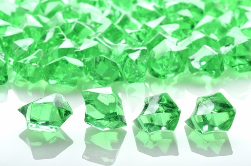 Grass Green Colored Gemstones Acrylic Crystal Wedding Table Confetti (3/4 lb Bag)