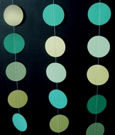Green Ombre Paper Circle Garland