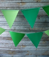 Green Ombre Triangle Flag Pennant Banner (11FT)