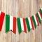 Green, White and Red Flag Stripe Pattern (Mexico or Italy) Guidon Pennant Banner Garland (11FT)