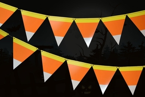 Halloween Candy Corn Flag Pennant Banner (11FT)