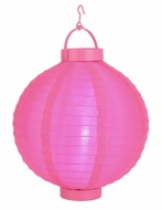 Fuchsia / Hot Pink LED Round Nylon Battery Lantern