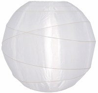 White Crisscross Ribbing Nylon Lanterns