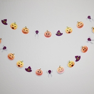 Halloween Jack-O-Lantern / Witch / Spider Paper Garland Banner (10FT)