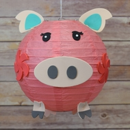 "8"" Paper Lantern Animal Face DIY Kit - Pig (Kid Craft Project)"