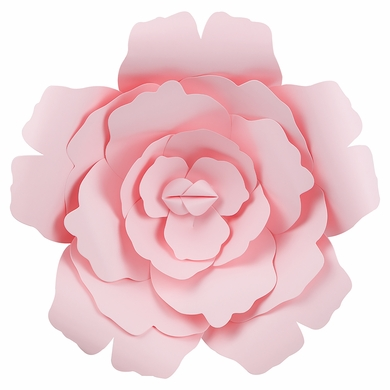 Large 12 pre made light pink rose paper flower wedding backdrop large 12 light pink rose paper flower backdrop wall decor 3d premade mightylinksfo