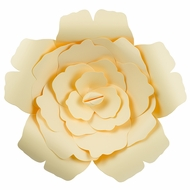 "Large 12"" Vanilla Cream Beige Rose Paper Flower Backdrop Wall Decor, 3D Premade"