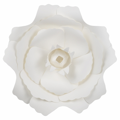 "Large 12"" White Peony Paper Flower Backdrop Wall Decor, 3D Premade"