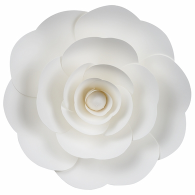 Large 12 pre made white ranunculus paper flower wedding backdrop large 12 white ranunculus paper flower backdrop wall decor 3d premade mightylinksfo