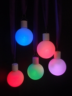 "3"" Frosted LED Multi-Color Changing Remote Control Ornament Ball Light (Battery Operated, 5 PACK)"