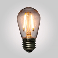 LED Filament S14 Shatterproof Light Bulb, Dimmable, 2W,  E26 Medium Base