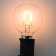 LED Filament Light Bulb, G40, Vintage Look, Energy Saving, E12 Base, 0.5 Watt (5 PACK)
