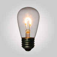 LED Filament Light Bulb, S14 Vintage Look, Energy Saving, E26 Base, 0.5 Watts (2-PACK)
